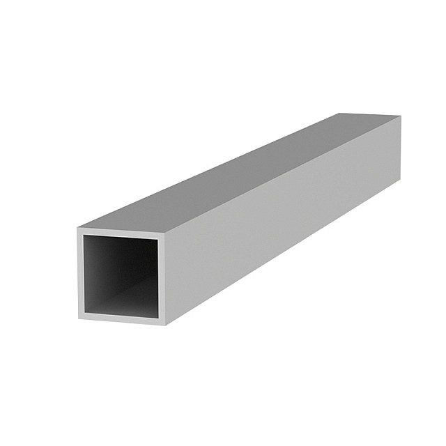 SQUARE ALUMINUM PROFILE 20x20 ANODIZED - 1.5mm THICKNESS